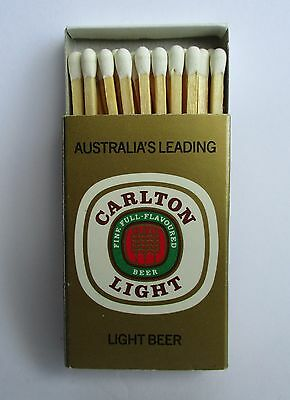 Carlton Light Beer full complete matchbox matches for home bar pub or collector