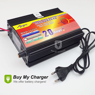 12V 20A Car Battery Charger Motorcycle Battery Charger Lead Acid Charger 220V