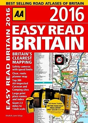 AA 2016 Big Easy Read -  BRITAIN ROAD ATLAS by AA : WH2-R6A : SB806 : NEW