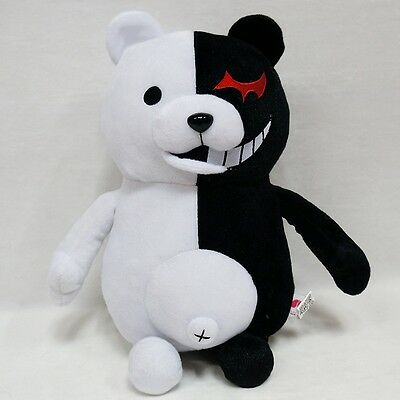 "25cm/9.8"" Danganronpa Monokuma Black&White Bear Dangan Ronpa Soft Plush Toy Doll"