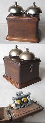 Old Swiss Massive Electric Double Bell / Telephone Or Telegraph