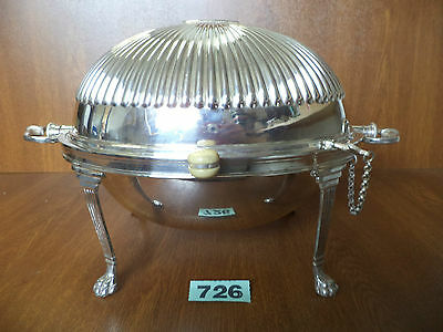 Large Revolving & Locking Silver Plated Breakfast Serving Dish - J D & S.