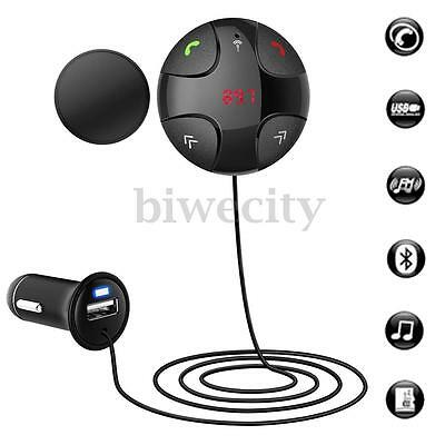 Handsfree Wireless Bluetooth Car Kit FM Transmitter MP3 USB Charger For Phone