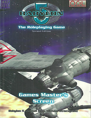 """""""babylon 5 Roleplaying Game Second Edition: Games Master's Screen"""" 2006 Hc New"""