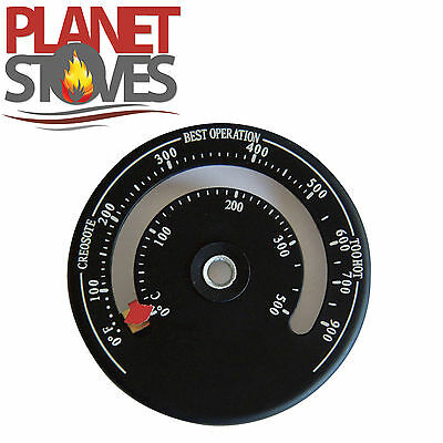 Stove Pipe Thermometer, Magnetic Temperature Gauge For Stoves, Log Burners