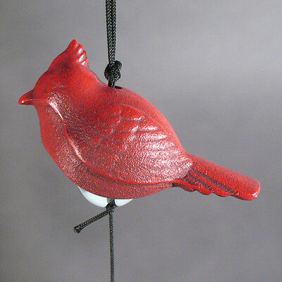 Vintage Japanese Iron Figural  Bell/windchime-Red Cardinal Bird