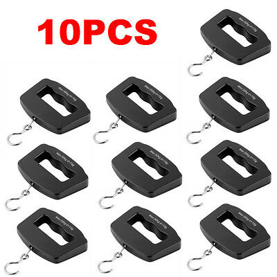 10pcs Portable 50kg/10g Digital LCD Electronic Luggage Hanging Weight Scale F7#