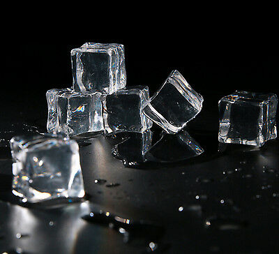 10PCS//Pack Fake Artificial Acrylic Ice Cubes Crystal Clear 2//2.5//3cm SquareO/_ps