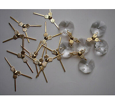 200x 30mm Gold 3 Points Butterfly Buckle/ Tie Clips Bead Curtain Metal Connector