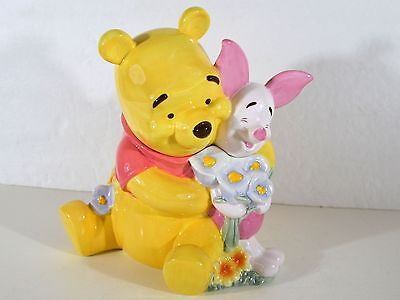 "Disney Winnie the Pooh and Piglet Cookie Jar 9"" Tall free shipping 456"
