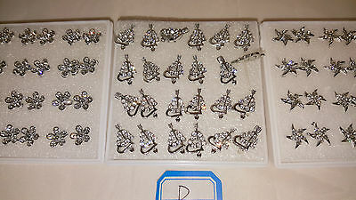 Joblot of 36 pairs Hypoallergenic Diamante stud Earrings - NEW Wholesale lot B