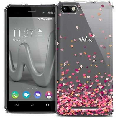 Coque Crystal Gel Wiko Lenny 3 Extra Fine Souple Sweetie Heart Flakes