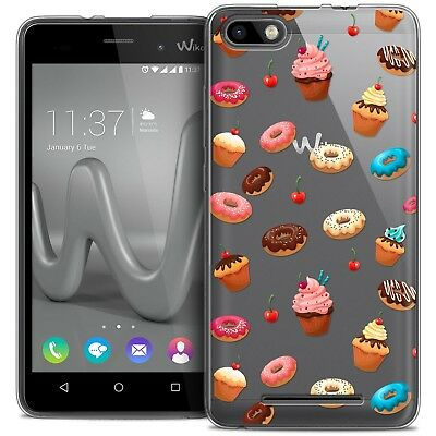 Coque Crystal Gel Wiko Lenny 3 Extra Fine Souple Foodie Donuts