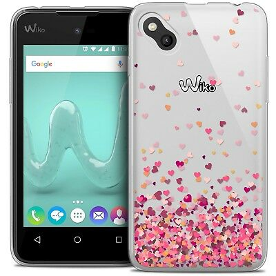 Coque Crystal Gel Wiko Sunny Extra Fine Souple Sweetie Heart Flakes