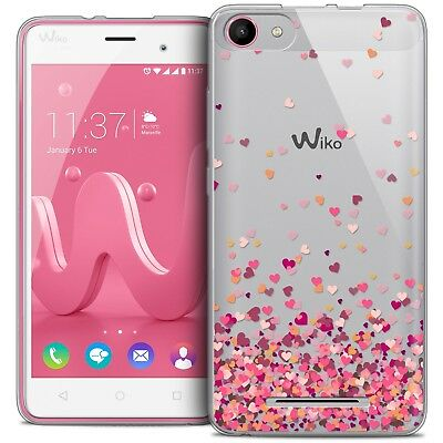 Coque Crystal Gel Wiko Jerry Extra Fine Souple Sweetie Heart Flakes