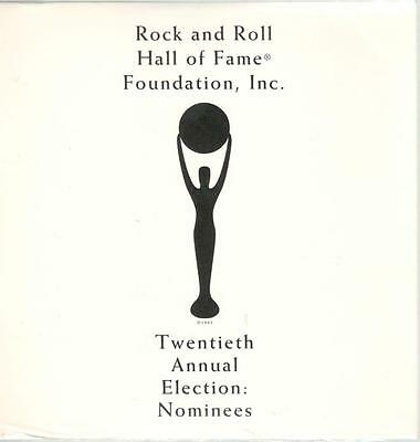 Rock and Roll Hall of Fame, 20th Annual Election Nominees; Super Rare Pr-CD
