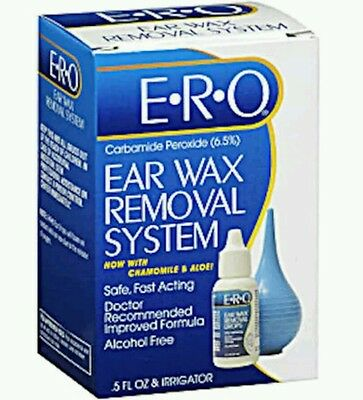 2x E.R.O. Ear Wax Removal System 1 kit - ERO Exp date 02/2017