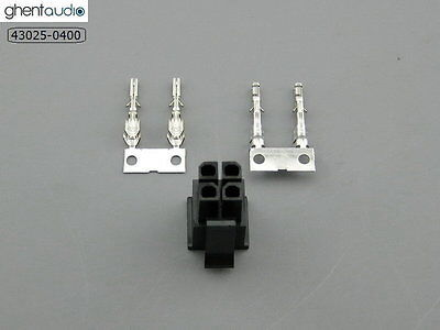 10 sets --- molex 43025-0400 Micro-Fit 3.0mm 4-circuits Housing & Crimp Terminal
