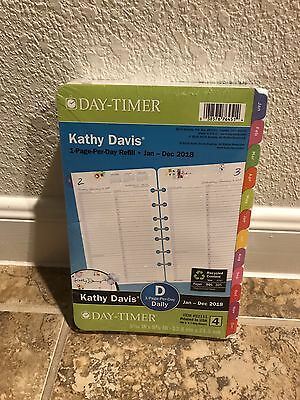 Kathy Davis 2018 Planner Refill 1 Page Per Day Day-Timer Floral Daily Size 4 Pin