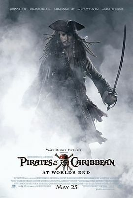 "PIRATES OF THE CARIBBEAN AT WORLD'S END 2007 Original DS 27X40"" US Movie Poster"