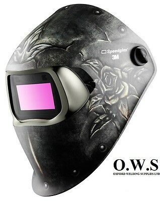"3M Speedglas 100V Series Welding Helmet ""Steel Rose"" Variable Shade 3 / 8-12"