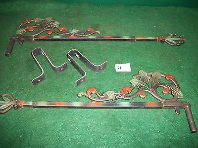 Vintage - Antique-Old -Cast Iron Swing A Way- Extending Drapery/curtain Rods