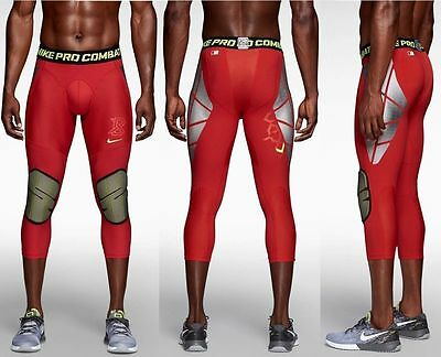 NWT Nike Men's Pro Hyperstrong Slider Compression 3/4 Tights Sz 2XL 634677
