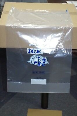 20Lb Ice Bags 2.0 Mil.guage Wicketed 500Pk Heavy Duty