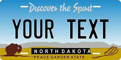 North Dakota 1993 License Plate Personalized Auto Car Custom VEHICLE OR MOPED