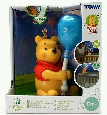 Tomy Baby Musical Winnie the Pooh Balloon Light Show/ Cot Mobile Projector Stars