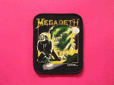 """Megadeth Official Vintage Printed Patch Uk Import """"mary Jane"""" Sew-On"""