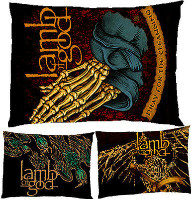 "Lamb Of God Metal Band Rock Pillow Case Cover Bedding 30"" x 20"" Gift"