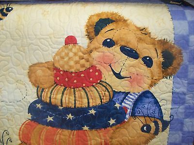. Honey Bear baby quilt has been quilt in Mo. size 34x42