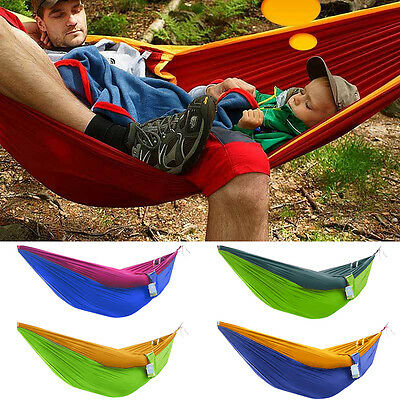 Portable Outdoor Indoor Parachute Single Hammock Travel Camping Hiking Swing Bed