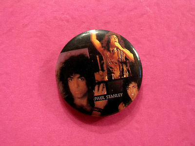"Kiss Vintage Badge  1"" Button Pin Uk Made Paul Stanley"