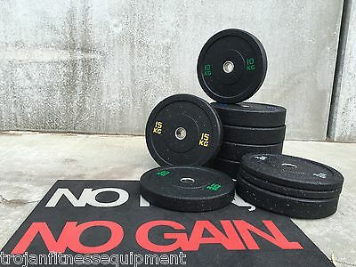Bumper Plates Solid Rubber 160 Kg 5 Pairs 10 15 20 25 2 Each