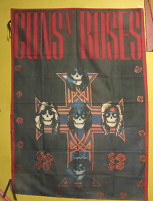 "Large Guns N' Roses Vintage Textile Flag Wall Banner Uk Import ""appetite For...."