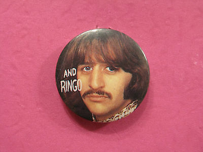 "The Beatles 1"" Vintage Button Badge Pin Uk Made Ringo"
