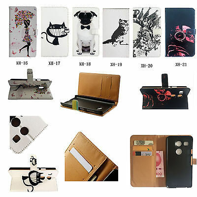 For HTC LG iPhone Asus Lenovo Phone High Wallet Card Leather Case Cover Skin XH