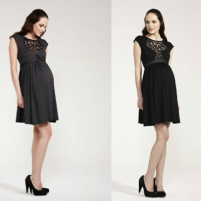 65464a92d4719 ROCK-A-BYE ROSIE RHIANNA Maternity Skater Dress Grey Size 16 - £8.99 ...