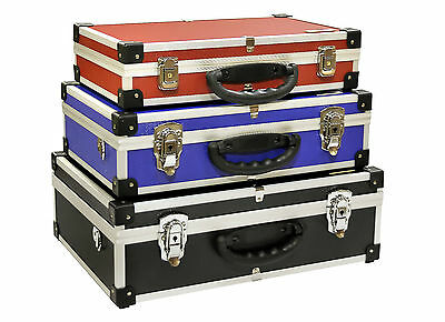 New Neo Triple Coloured Tool Flight Storage Engineers Electrician Case Box
