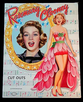 Un-Cut Paper Doll Book Rosemary Clooney, Lowe - Authorized Edition 1954