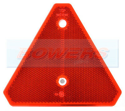 Rear Red Screw On Reflective Triangle Reflector Ifor Williams Trailer Caravan