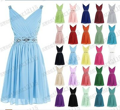 Short Formal Chiffon Wedding Party Prom Dress Bridesmaid Evening Cocktail Dresse