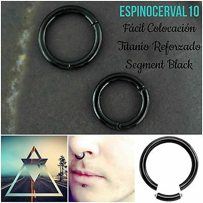 Piercing Septum Segment clicker titanio negro black ring piercings aro segmento