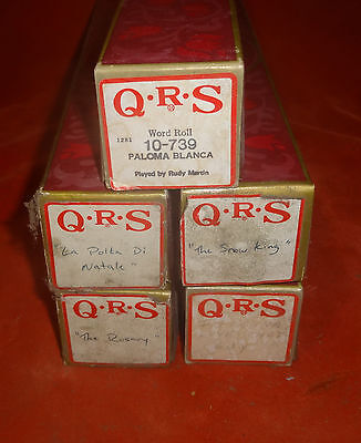 (5) Player Piano Rolls- QRS - Good Condition 04