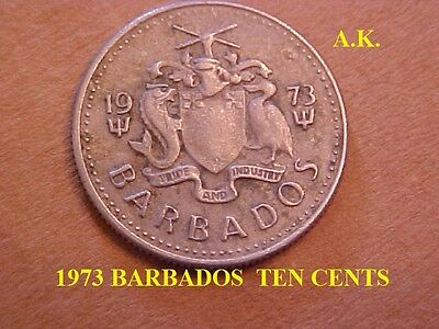 1973 Barbados  Ten Cents