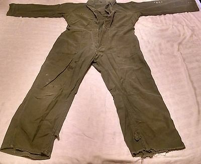 Vintage Army Coveralls ~ size Large ~ See Description