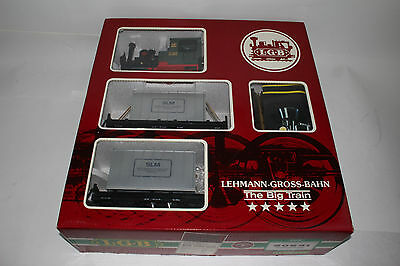 Lgb G Scale #20531 Sonderpackung Slm Locomotive & Container Car Set, Boxed