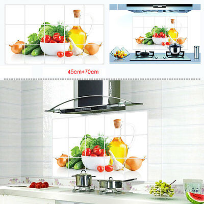 Removable Oil-Proof Kitchen Mural Art Vinyl Wall Stickers Home Room Decal Decor